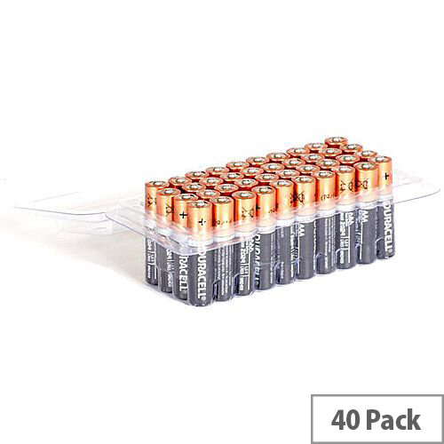 Duracell AAA Alkaline Batteries Pack of 40