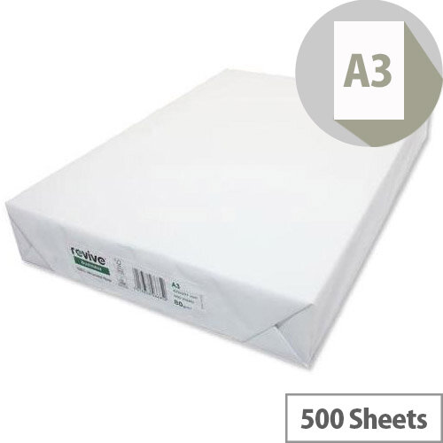 Paper A3 Recycled 80g/m2 Pack of 500 Sheets