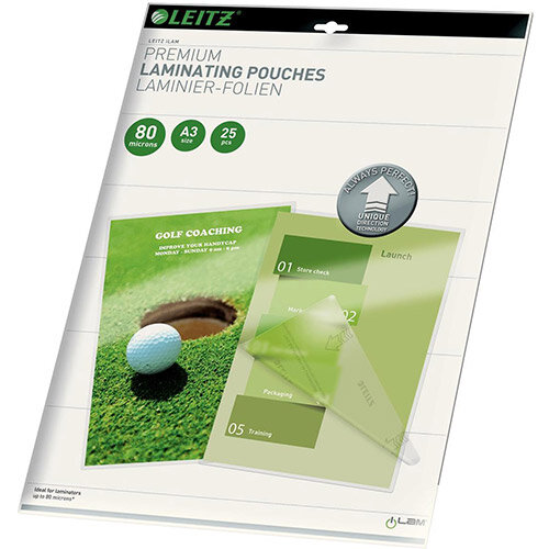 Leitz iLAM UDT A3 Hot Laminating Pouches 80 microns 1 x Pack of 25