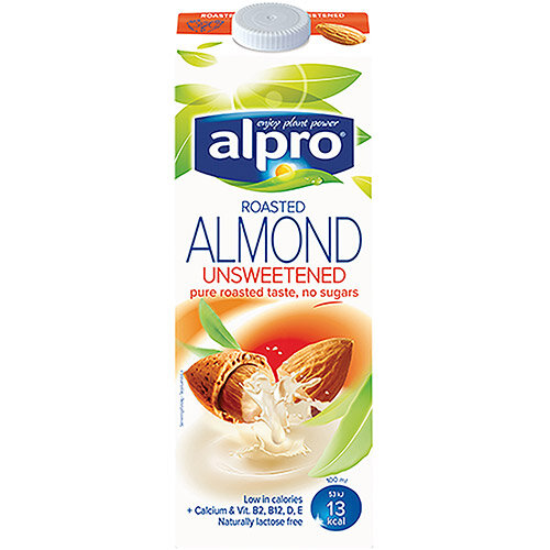 Alpro Almond Milk Unsweetened 1 Litre Pack of 8