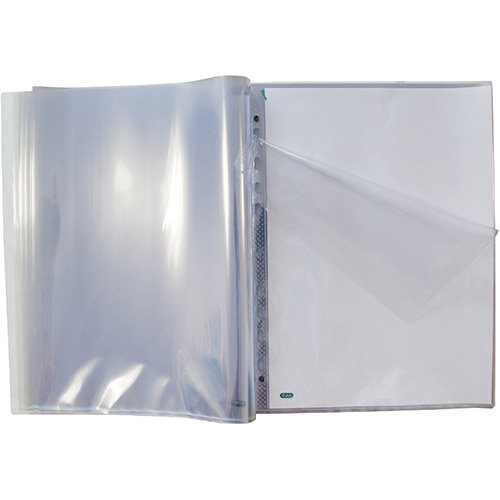 Oxford Punched Pocket Pad 60 Pockets A4 Glass Clear Ref 400129426