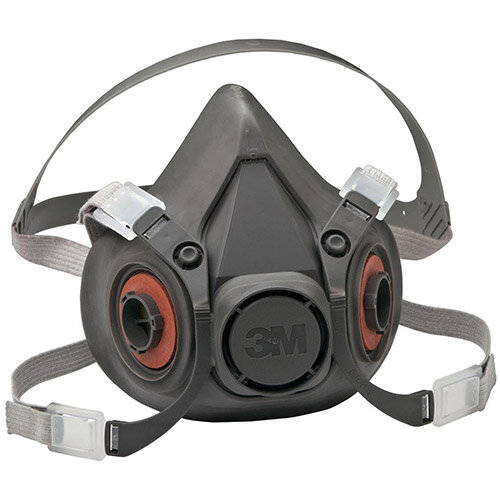 3M 6000 Series Half Face Mask Respirator Large Dark Grey