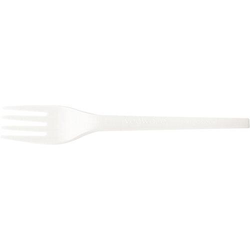 Vegware Fork Disposable CPLA White Ref VR-FK6.5W Pack of 50