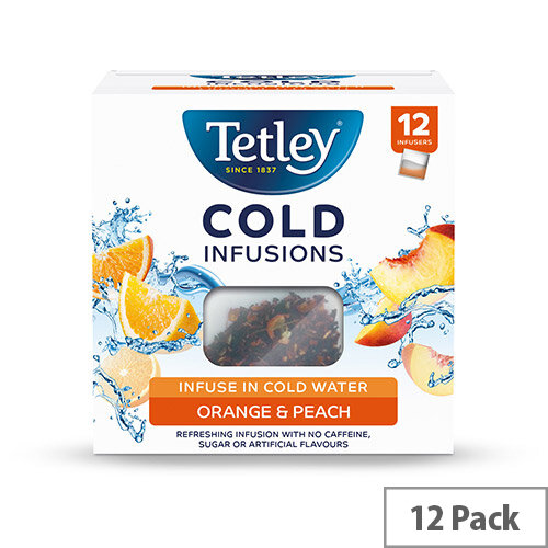 Tetley Cold Infusions Peach &Orange Ref 1601A Pack of 12