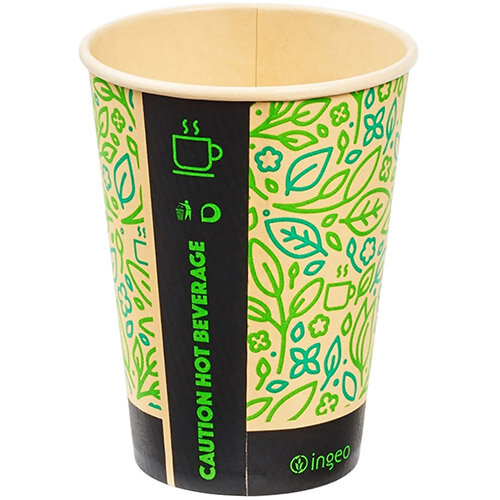 Ingeo Ultimate Eco Bamboo 12oz Biodegradable Disposable Cups Ref 0511224 Pack of 25