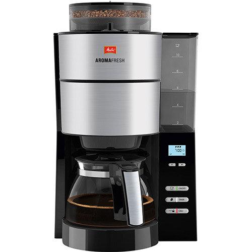 Melitta Aromafresh Grind &Brew Filter Coffee Machine Black/Stainless Steel Ref 6760642