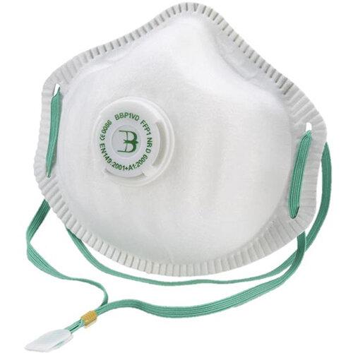 B-Brand P1 Premium Vented Mask Soft Foam Nose Seal White Pack of 10 Ref BBP1VD