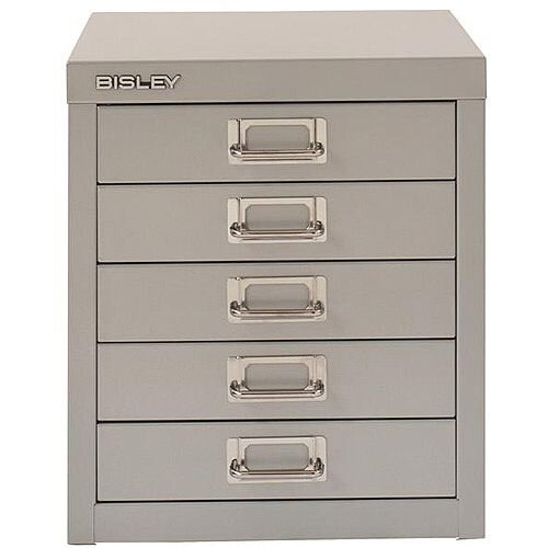 Bisley SoHo Multidrawers 5-Drawer 51mm Drawer Height Silver