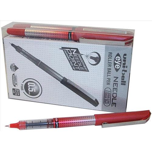 Uni-ball UB-185S Eye Needle Rollerball Pen 0.5mm Tip Red Ref 125955000 Pack of 12