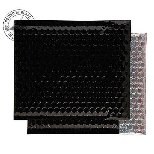 Purely Packaging Envelope P& 165x165mm Padded Metallic Black Ref MBB165 [Pk 100]