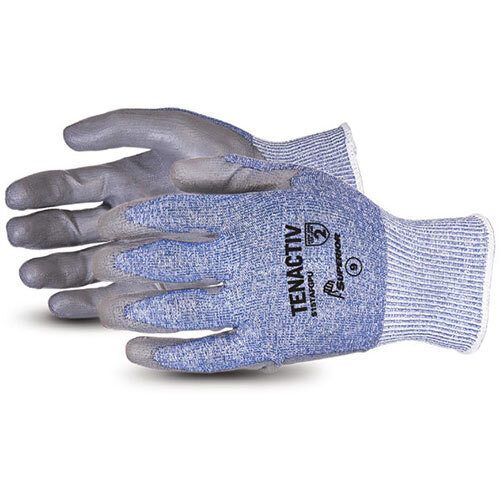 Superior Glove Tenactiv Composite Knit Cut-Resistant PU 11 Grey Ref SUS15TAFGPU11