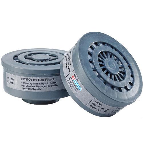 BBrand B1 Air Filter Grey for BB3000 Respirators Pair Ref BB3000B1