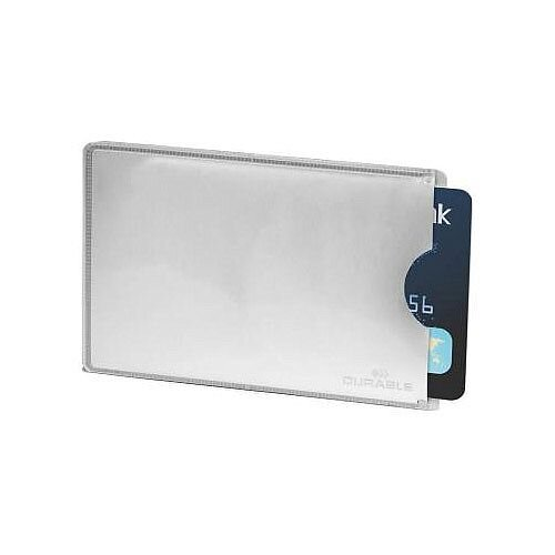 Durable Credit Card Sleeve RFID Secure Silver Pack of 10