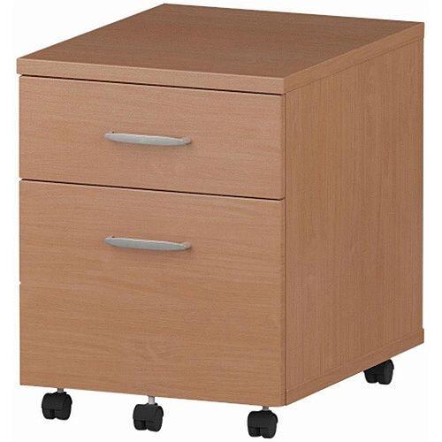 2 Drawer Mobile Desk Pedestal Beech