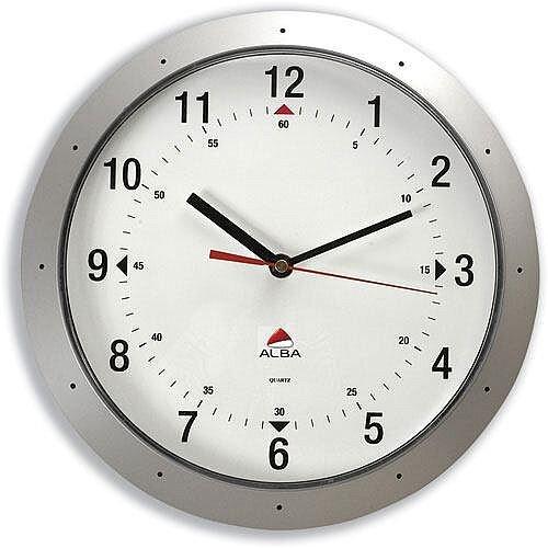 Grey Round Wall Clock Diameter 320mm
