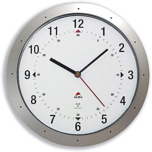 Radio Controlled Wall Clock Diameter 300mm Grey