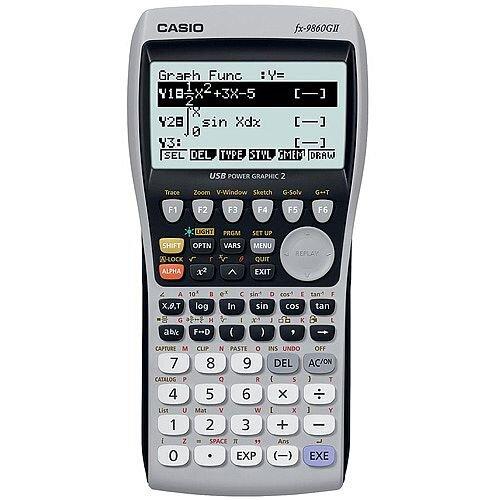 Casio FX-9860GII Graphic Calculator Icon Menu Interface Silver