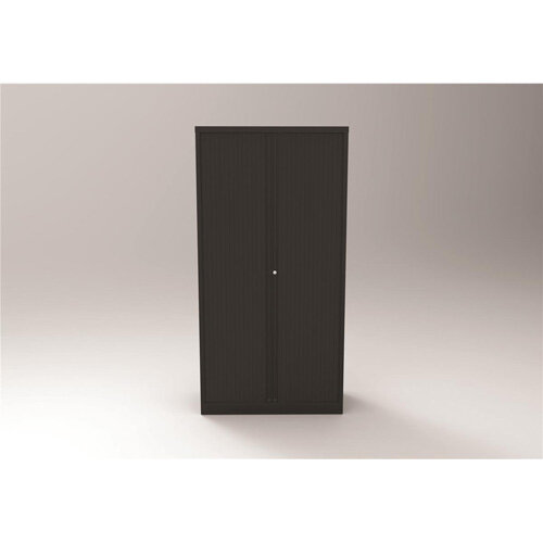 Trexus by Bisley Side Opening Tambour Door Cupboard 1000x470x1970-1985mm Black/Black Ref YETB1019.5-av1