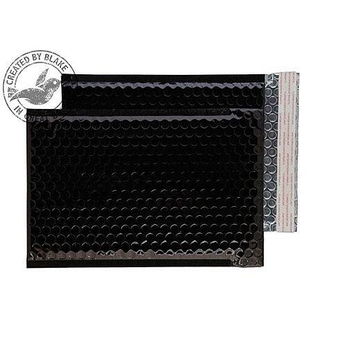 Purely Packaging Envelope P& 250x180mm Padded Metallic Black Ref MBB250 [Pk 100]