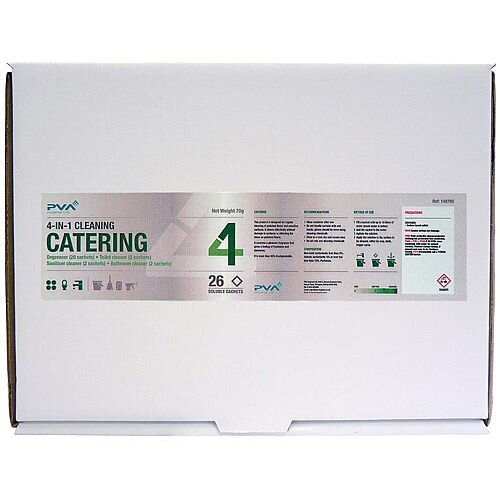 PVA Hygiene C3 Catering Dissolving Cleaner 26 Sachets Mixed Pack