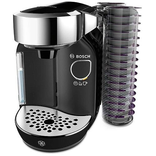 Bosh Tassimo Caddy T70 Coffee Machine Black Bundle With 2 Capsule Holders. Large 1.2 Liter Removable Water Tank. Ideal For Work Environments, Home Use, Canteen Use &More.