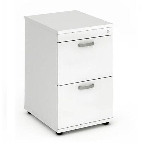 2 Drawer Filing Cabinet WxDxH 500x600x800mm White