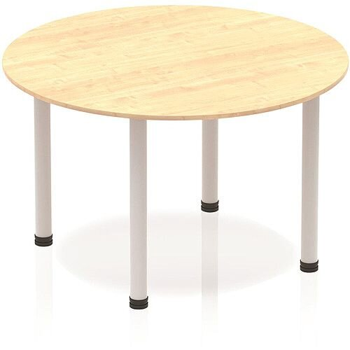 Circular Table Maple with Silver Frame 1200x1200mm