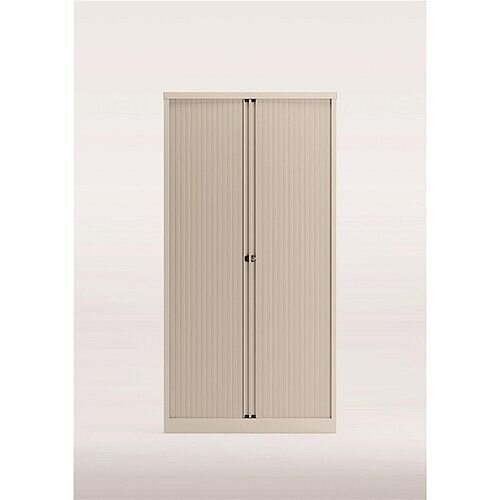 Trexus by Bisley Side Opening Tambour Door Cupboard 1000x470x1970-1985mm White/White Ref YETB1019.EW-ab9