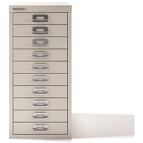 Bisley SoHo Multidrawers 10-Drawer 51mm Drawer Height Chalk White
