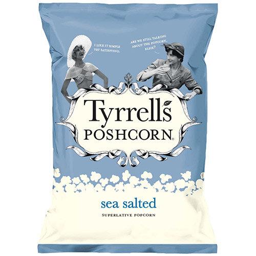 Tyrrells Sea Salted Popcorn 70g Ref 701949 Pack of 12