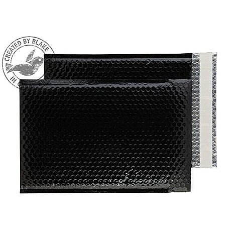 Purely Packaging Envelope P& 324x230mm Padded Metallic Black Ref MBB324 [Pk 100]