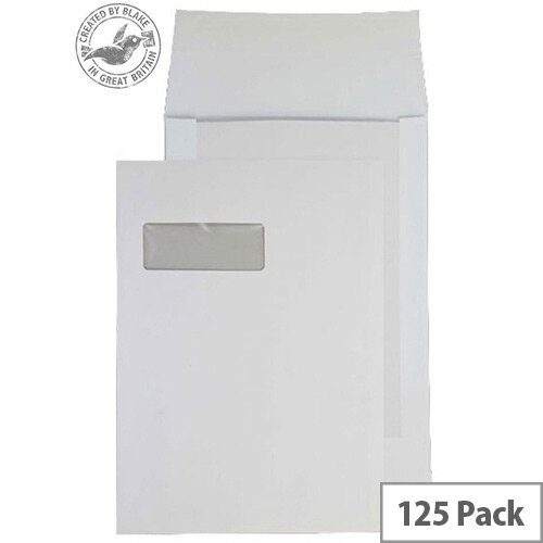 Purely Packaging Envelope Board Backed P&S 120gsm C4 White Ref 92901W [Pack 125]