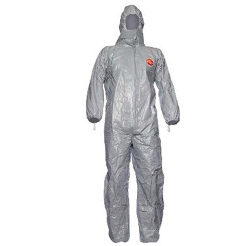 DuPont Tychem F Model CHA5 Extra Large Protective Coverall Grey