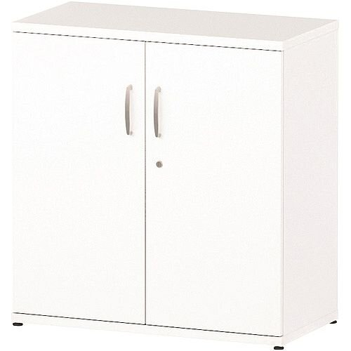Low Cupboard With 1 Shelf (2 Shelving Compartments) H800xD400xW800mm White