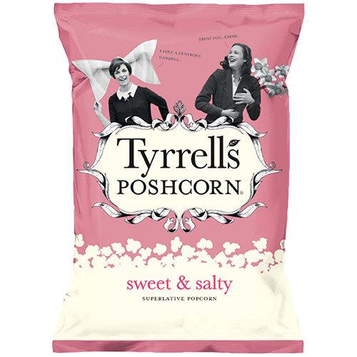 Tyrrells Sweet &Salted Popcorn 80g Ref 701950 Pack of 12