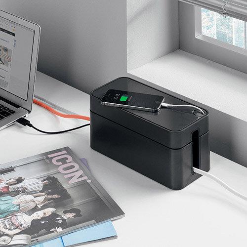 Durable CAVOLINE BOX S Cable Box Graphite Ref 503537