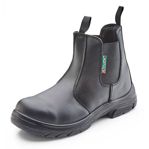 Click Footwear Dealer Safety Boots PU/Leather Steel Toecap Size 13 Black Ref CF16BL13