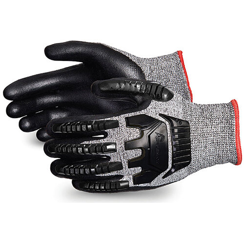 Superior Glove Tenactiv Anti-Impct Cut-Resist Nitr Palm 12 Black Ref SUSTAFGFNVB12