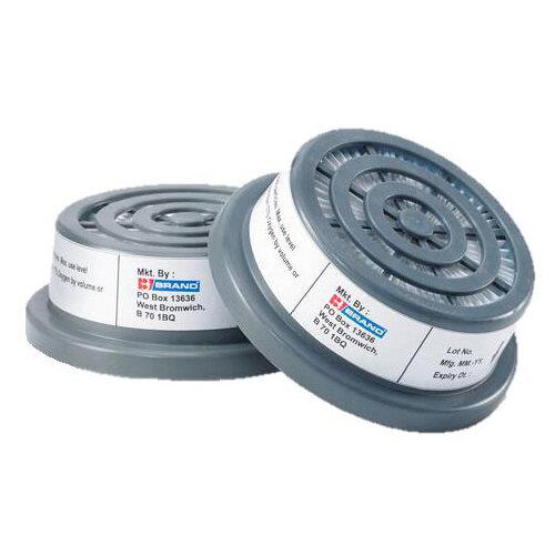 BBrand P3 Air Filters Grey for BB3000 Respirators (Pair) Ref BB3000P3