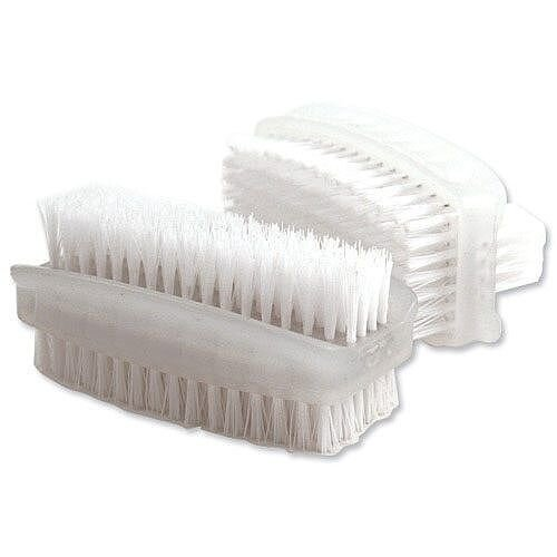 Bentley Nail Brush Double Sided Plasic White KG/CL190/2 Pack 2