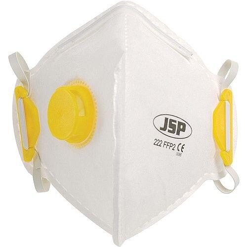 JSP FFP2 Fold Flat Disposable Vertical Valved Face Mask Pack of 1