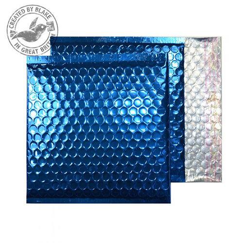 Purely Packaging Envelope P& 165x165mm Padded Met Blue Ref MBBLU165 [Pack 100]