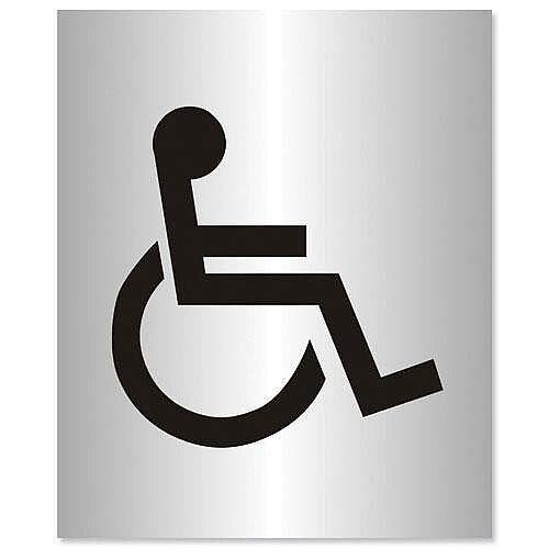 Disabled Logo Sign Aluminium Stewart Superior Acrylic 150x115mm