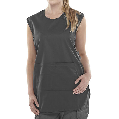 Click Workwear Tabbard PolyCotton Side Fastening XL Black Ref PCTABBLXL