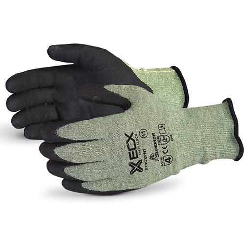 Superior Glove Emerald CX Kevlar Wire-Core Nitrile Palm 11 Black Ref SUS13CXPNT11