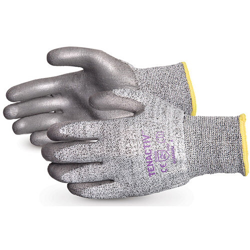 Superior Glove Tenactiv Cut-Resist Composite Knit PU Palm 5 Grey Ref SUSTAFGPU05