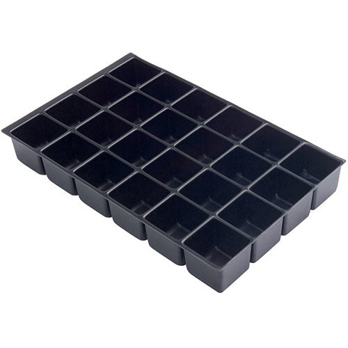 Bisley Insert Tray 2/16 Plastic for Storage Cabinet 16 Sections H51mm Black Ref 224P1 [Pack 5]