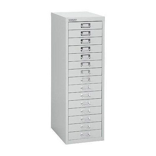 Bisley SoHo Multi-Drawers 15-Drawer 51mm Drawer Height Silver
