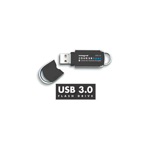 Integral Courier Dual USB 3.0 FIPS 197 16GB Ref INFD16COUDL3.0-197