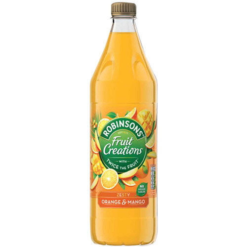 Robinsons Creation Squash No Added Sugar 1 Litre Orange &Mango Ref 962001 Pack of 12